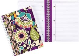 Vera Bradley Plum Crazy Spiral Notebook Journal 6'' x 8