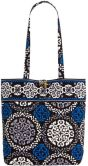 "Product Image. Title: Vera Bradley Canterberry Cobalt Fabric Tote 11.75"" x 13.5"" x 4"""