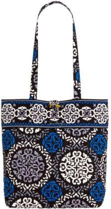 Vera Bradley Canterberry Cobalt Fabric Tote 11.75