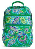 Product Image. Title: Vera Bradley Emerald Paisley Tech Backpack