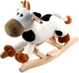 Happy Trails Plush Rocking Plush with Sounds - Connie Cow