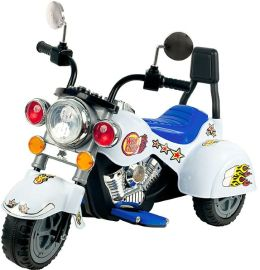 Lil' RiderT White Knight Motorcycle - Three Wheeler