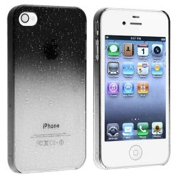 BasAcc - Snap-on Case compatible with Apple® iPhone® 4 / 4S , Clear Smoke Waterdrop
