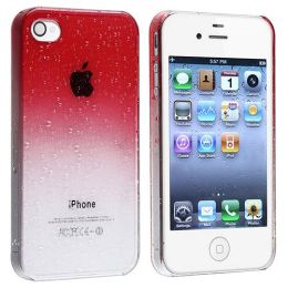 BasAcc - Snap-on Case compatible with Apple® iPhone® 4 / 4S , Clear Red Waterdrop