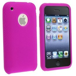 BasAcc - Purple Textured Silicone Skin Case Compatible With Apple® iPhone® / iPhone® 3G 8GB 16GB