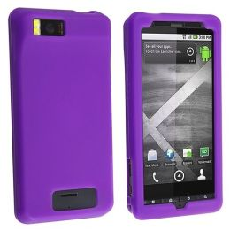 BasAcc - Silicone Skin Case for Motorola Droid Xtreme / Droid X, Dark Purple