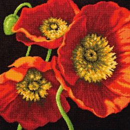 Red Poppy Trio Needlepoint Kit-14