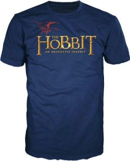 Hobbit Logo on Navy Short Sleeve T-Shirt - Large