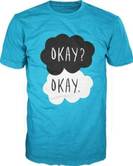 John Green The Fault In Our Stars Adult Turquoise T-Shirt - S/M