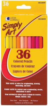 Simply Art Colored Pencils 36/Pkg-Assorted Colors