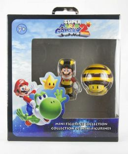 Bee Mario/Bee Mushroom 2 Inch Fig set