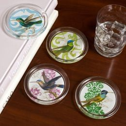 Hummingbird Glass Coasters Set/4