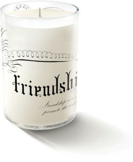''Friendship'' Small Glass Candle