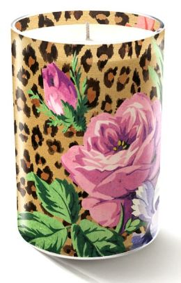 Leopard Rose Small Glass Candle 3x2
