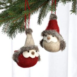 Felt Bird Ornament Set of 2 Birds