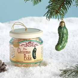 Christmas Pickle Ornament In Jar