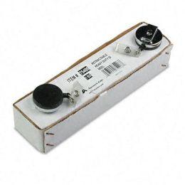 Advantus 75406 Heavy-Duty Retractable ID Card Reel 24 Extension Black/Chrome 12 Per Box