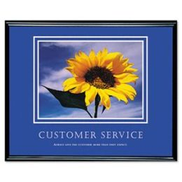 Advantus 78027 Customer Service Framed Motivational Print 31-1/2w x 25-1/2h