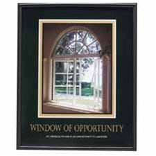Advantus Corp. AVT78078 Motivational Poster in.Window Of Opportunityin.- 24in.x30in.- BK Frame
