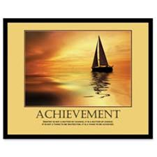 Advantus 78081 Achievemant Framed Motivational Print- 24w x 30h
