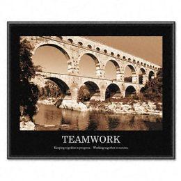 Advantus 78162 Teamwork Framed Sepia-Tone Motivational Print 30w x 24h