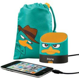 KIDdesigns DF-M63 Phineas & Ferb Portable Rechargeable Speaker