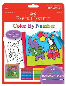 Color by Number Party Animals