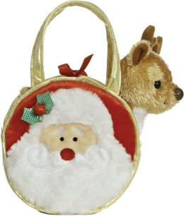 Merry Santa & Reindeer Pet Carrier