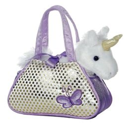 Unicorn Fancy Pal Pet Carrier 7 inch Plush Doll