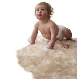Auskin Infant Care Lambskin Soft Natural Longwool