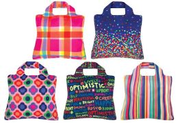 Optimistic Reusable Tote Bags, Set of 5