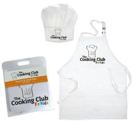The Cooking Club for Kids Apron & Hat  - White  Ages 8-12