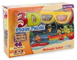 3D Midnight Safari 46 Piece Puzzle