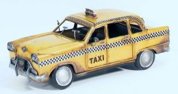 Atlantic Importers Jlc1216-Y 1933 NYC Yellow Checker Cab Replica