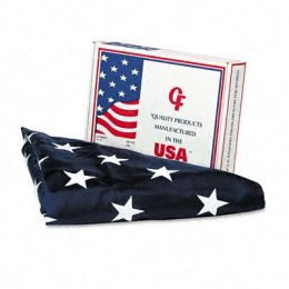 Advantus MBE002270 All-Weather Outdoor U.S. Flag 100 Percent Heavyweight Nylon 5 ft. x 8 ft.