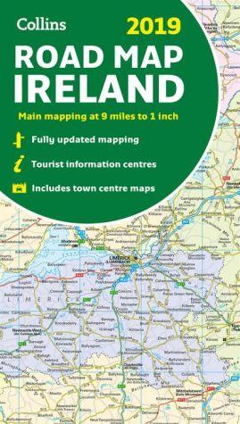 Book 2019 Collins Road Map Ireland