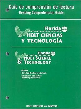 Holt Science & Technology Florida: Spanish Reading Comprehension Guide Grade 6 Earth Science