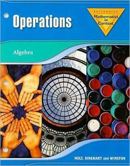 Holt Math in Context: Operations Grade 7