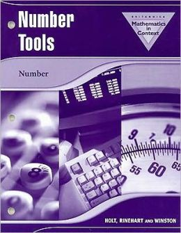 Holt Math in Context: Number Tools Workbook Common Ancillaries