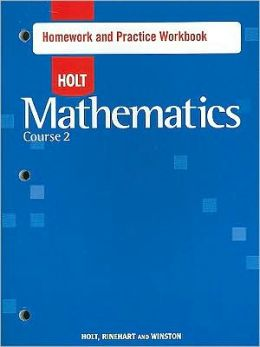 Holt Mathematics: Homework Practice Workbook Course 2