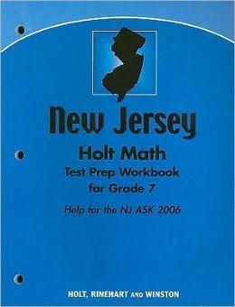 Holt Mathematics New Jersey: Test Prep Workbook Grade 7