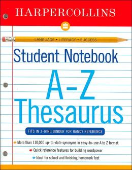 HarperCollins Student Notebook Roget's Thesaurus