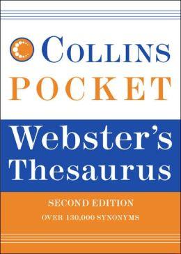 Collins Pocket Webster's Thesaurus. 2e
