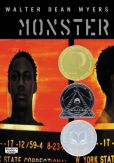 Book Cover Image. Title: Monster, Author: Walter Dean Myers