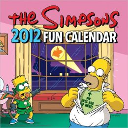 2012 Simpsons Fun Wall Calendar