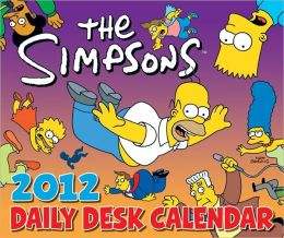 2012 Simpsons Daily Desk Box Calendar