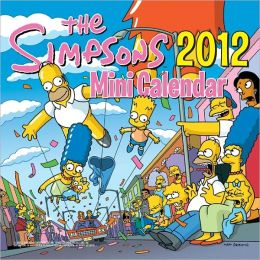 2012 Simpsons Mini Wall Calendar