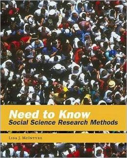Need to Know: Social Science Research Methods