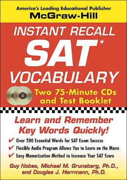 Instant Recall SAT Vocabulary
