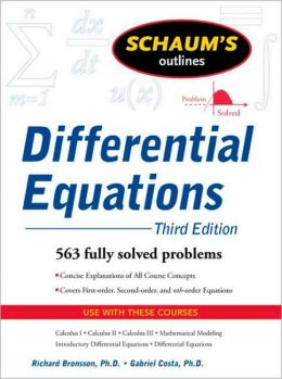 Schaum's Outline of Differential Equations, 3ed